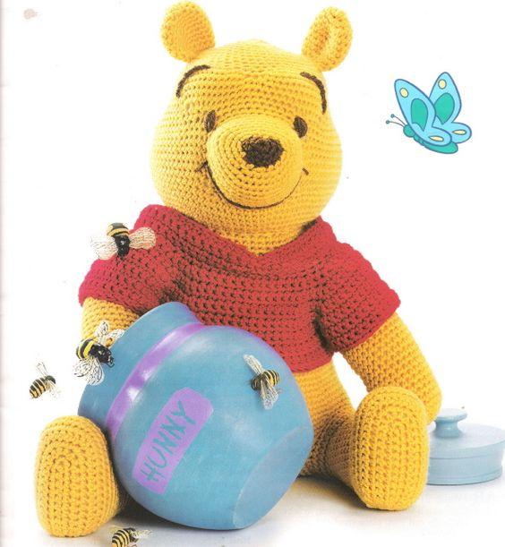 ... francais amigurumi Pinterest Motifs, Winnie lourson et Crochet