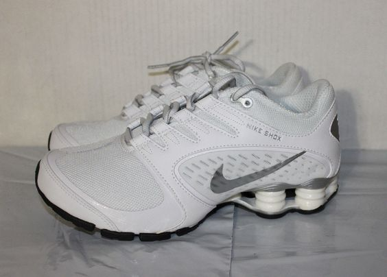 ... nike shox vaeda white silver womens running shoes 678632 100 size 7 us .