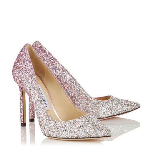 outlet store sale genuine shoes best shoes Jimmy Choo ROMY 100 in 2020 | Sparkly wedding shoes, Wedding shoes ...