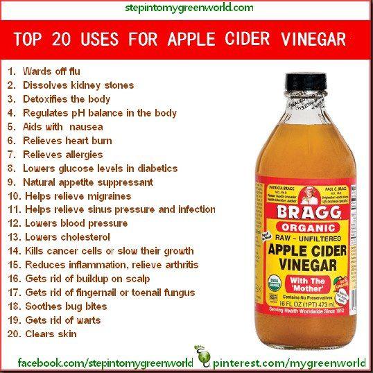 Top 20 Uses for apple cider vinegar