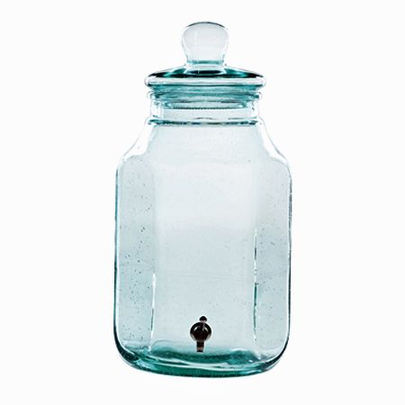 Imagine 2 gallons of lemonade in this great Beverage Jar from VIETRI.  Made with recycled glass, so it's eco-friendly too!  $92.00.