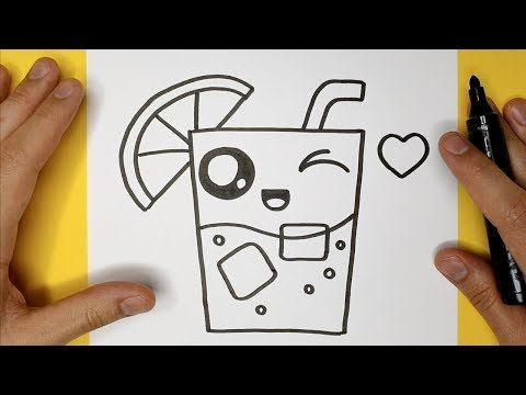 How To Draw Lemonade Easy And Cute Happy Drawings With Images