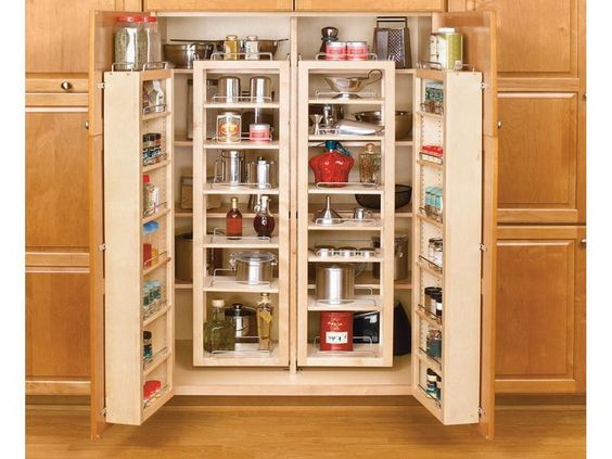 Kitchen Pantry Storage, Good Choice with Good Features : Elegant ...