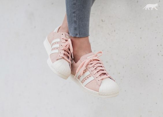 adidas originals superstar 80s - baskets basses - blush pink/off white