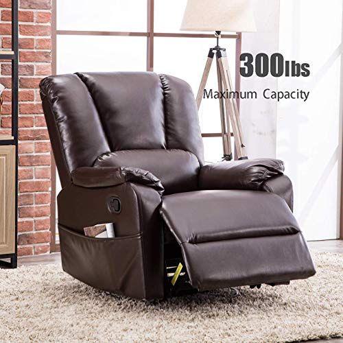 Buy Anj Swivel Rocker Recliner Chair Breathable Bonded Leather