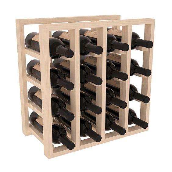 Karnes Lattice 16 Bottle Tabletop Wine Bottle Rack Wine Rack Wine Bottle Rack Wine Cubes