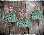 Primitive Christmas Tree Garland, Christmas Tree, Primitive Holiday Decor
