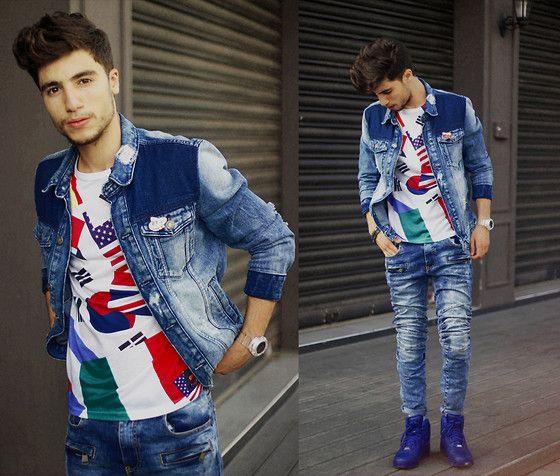 Jacket, Tshirt  Junior, Jeans, Sneakers Nike