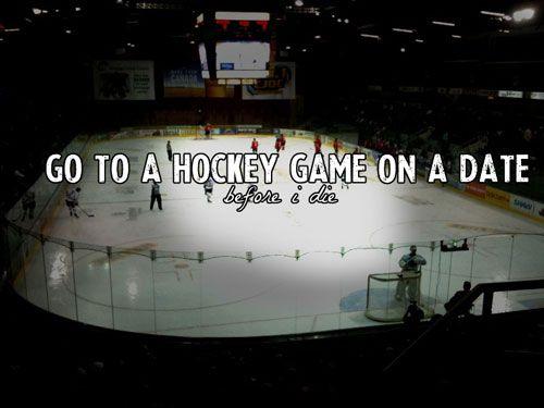Hockey Bucket List- Go to a Hockey Game on a Date! #DateNight