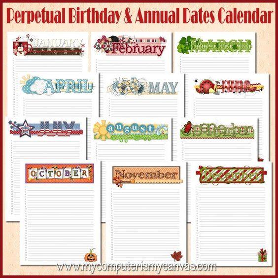 Birthday Calendar Ideas : Pinterest the world s catalog of ideas