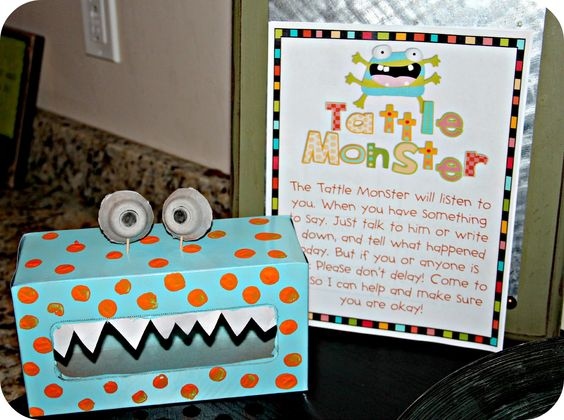 Tattle Monsters! Teaching the difference between tattling and reporting.