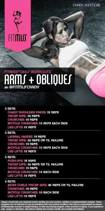 Arms and obliques by fitmiss: