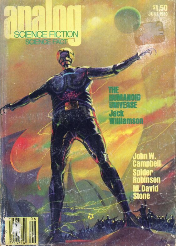 Paul Lehr - Analog Science Fiction - The Humanoid Universe Jack Williamson, juin 1980, édition USA
