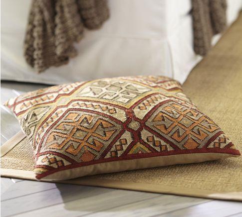 Kashan Kilim Floor Pillow Cover Pottery Barn Decoration d interieur Pinterest Floor ...