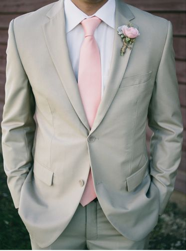 A perfect pink boutonniere! #groom #groomsmen #boutonniere #wedding Captured by: Studio 7 Photography ---> http://www.studio7photo.net/burlap-lace/rybnplvjfwd5n61yv83aedz1h326j1