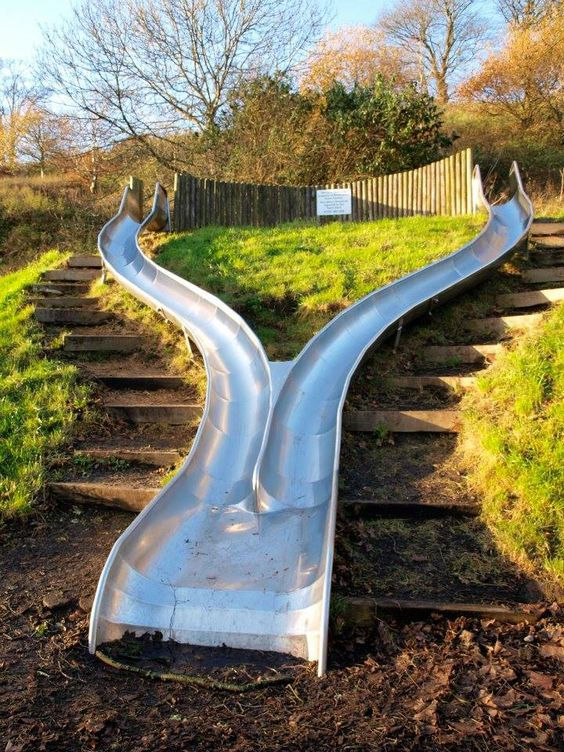 Unique Backyard Playground Ideas : The two, A hill and In the garden on Pinterest
