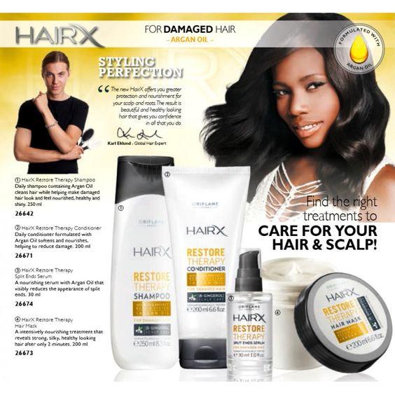 Oriflame HairX Restore Therapy daily shampoo damaged hair - Argan Oil