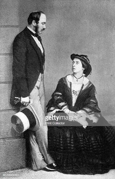 Queen Victoria and the Prince Consort, 1860.
