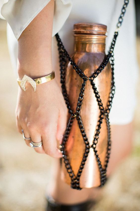 DIY Chain Water Bottle Purse: