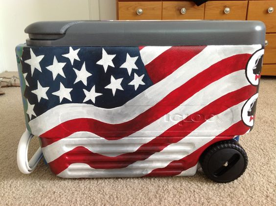 awesome cooler by christinescoolers on etsy for the. Black Bedroom Furniture Sets. Home Design Ideas