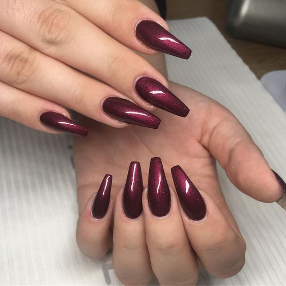 45 Simple And Charming Wine Red Nail Art Designs With Images