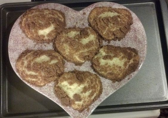heart crumb muffins I made for my family with Love.  I used Krusteaz muffin and cake mix: