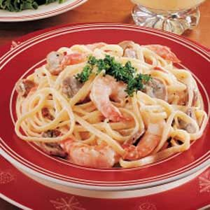seafood fettucine