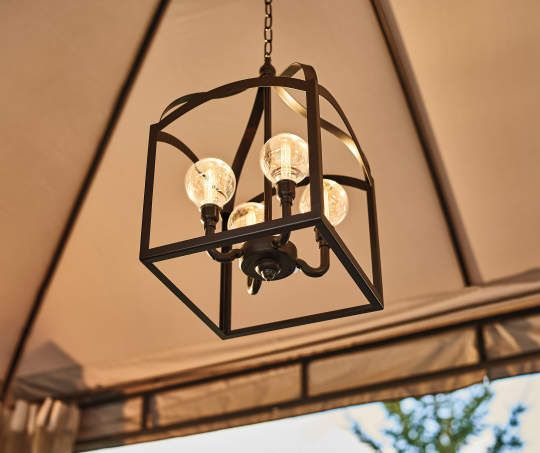 Metal Led Battery Operated Chandelier With Remote Battery