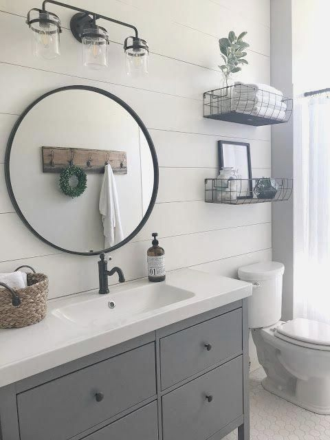 5 Bathroom Renovations That Are Water Efficient Decorated Life In 2020 Modern Farmhouse Bathroom Bathroom Design Small Farmhouse Bathroom Decor