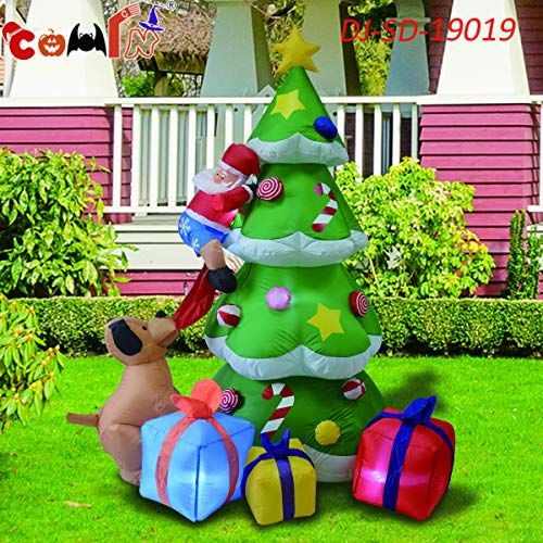 Homegear Christmas 6ft Inflatable Gingerbread Man for Indoor//Outdoor Use with LED Lights