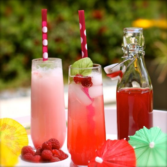raspberry-basil italian cream soda