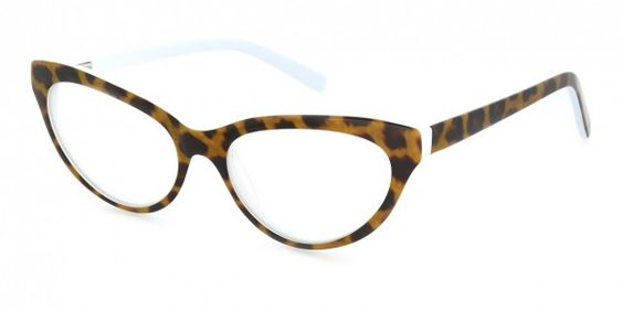 Cathy Tortoise Shell / White Womens Glasses, designer ...