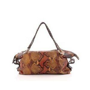 BAMBOO BAR SHOULDER BAG PYTHON #Gucci #Fashion #Handbag