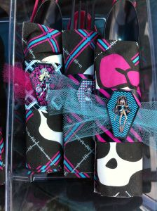 Monster High Napkin wraps party