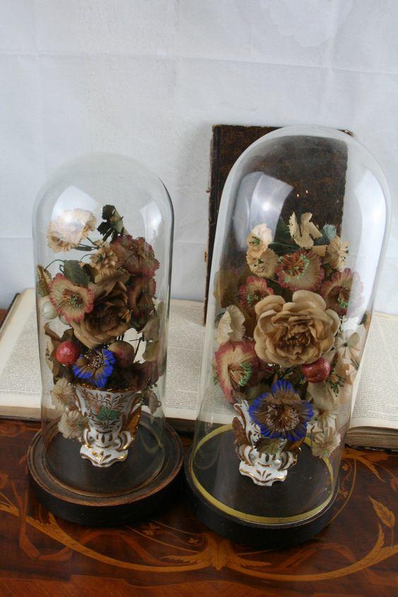 Pair Exclusive Vieux Paris Vases Porcelain Flowers Religious Globe