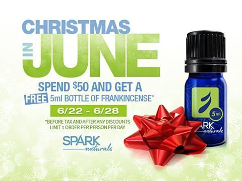 #FREE 5ml bottle of #Frankincense ($24.99) w/$50 order Add'l 10% off w/code MAMA http://sparknaturals.com #doTerra #YL
