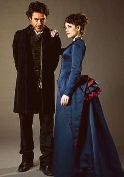 Sherlock Holmes and Irene Adler (Robert Downey Jr., Rachel McAdams) <3