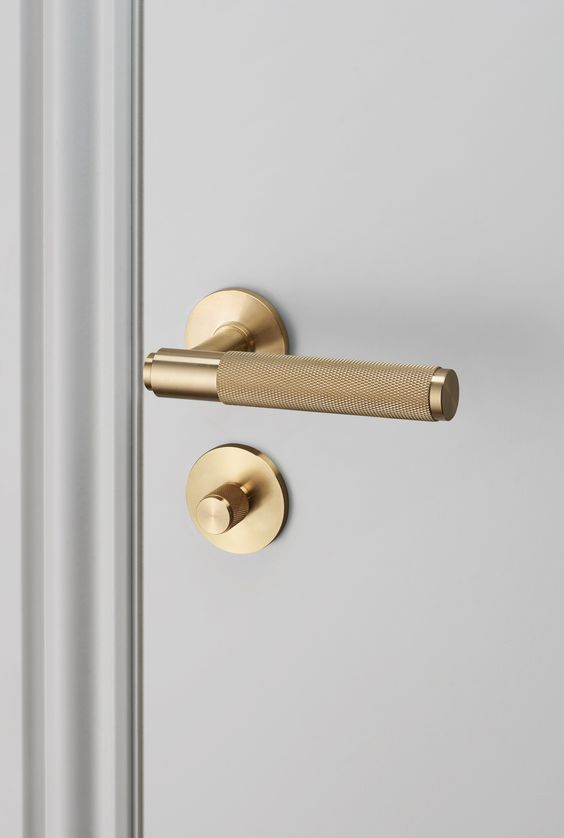 DOOR LEVER HANDLE / BRASS and THUMBTURN LOCK / BRASS by Buster + Punch: