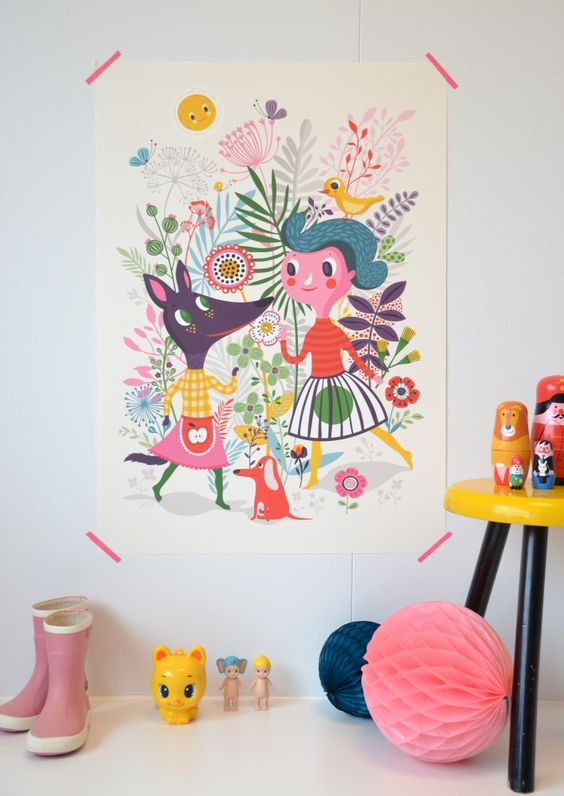 Cute poster for little one's room-pinned by www.auntbucky.com #baby #nursery #kids