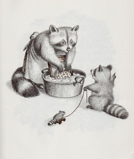 """""""Wait Till the Moon Is Full"""" de Margaret Wise Brown, illustré par Garth Williams."""