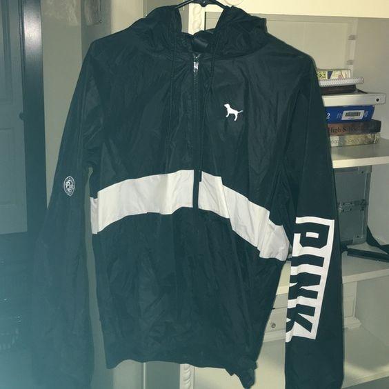 Pink VS black windbreaker jacket Boutique | Coats Windbreaker