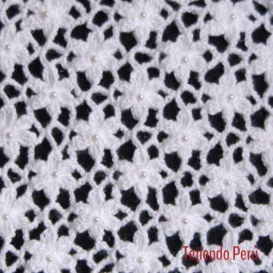 Crochet video del paso a paso para tejer el punto jard n - Punto jardin ...