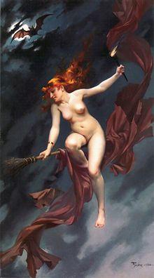 Hexe – Wikipedia  Luis Ricardo Falero 1880: Die Hexe auf dem Sabbath