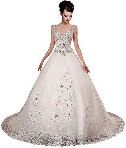 A-plum White Strap Ball Gown In Lace Layered Wedding Dress 14 A-PLUM http://www.amazon.com/dp/B00MGAHP14/ref=cm_sw_r_pi_dp_GL5Mub1P64Z33