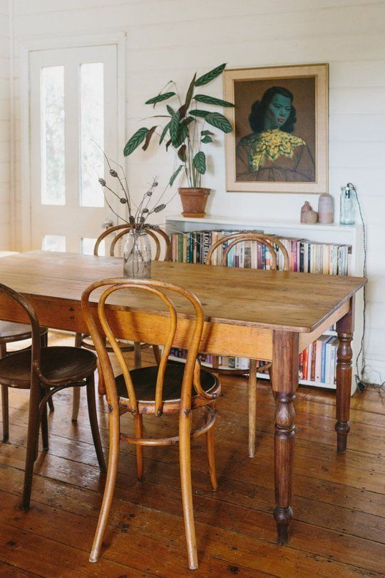 Rustic Vintage Dining Table In A Super Relaxed Boho Cottage In Australia
