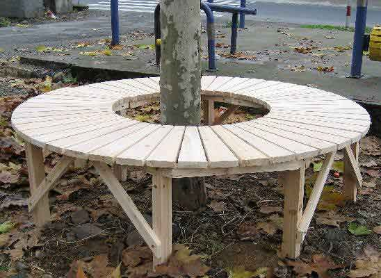 round gardens full circular tree bench with no back. Black Bedroom Furniture Sets. Home Design Ideas