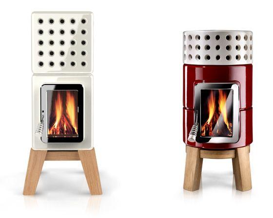 Cute little wood stove!