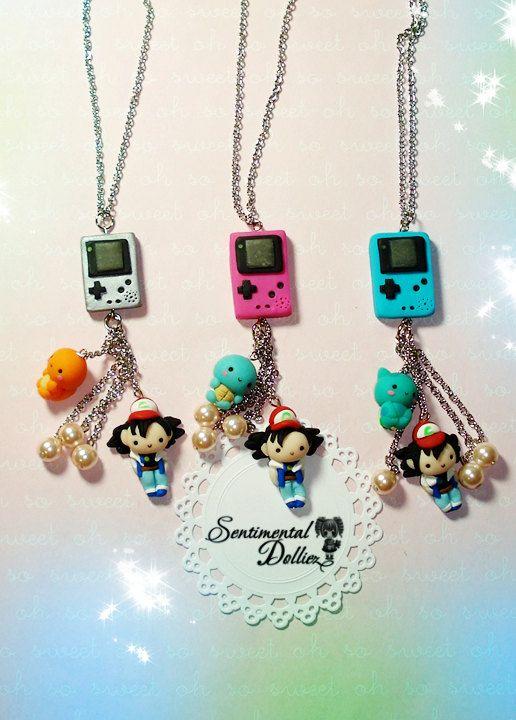 Pokemon Jewelry Pokemon Necklace Pokemon by SentimentalDollieZ, $25.00 so adorbs though...