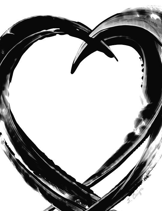Image result for abstract painting black heart