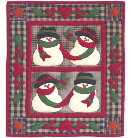 Snow Friends Wall Hanging Quilt Kit